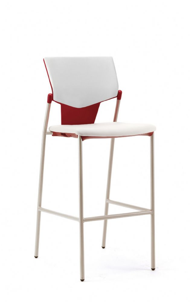 Pledge Ikon High Chair With Upholstered Seat And Back With No Arms